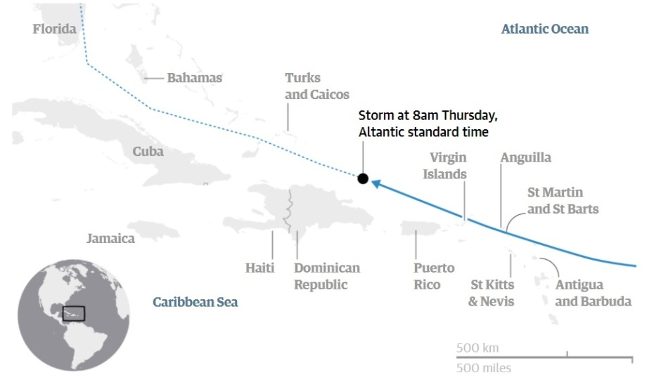 irma's path fonte the guardian